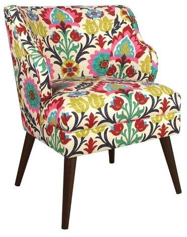 Astonishing Beautiful Hand Crafted Modern Chair Made In The Usa By Bralicious Painted Fabric Chair Ideas Braliciousco
