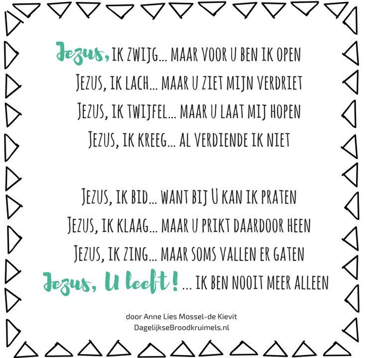 Maandag 3 april - dag 29  Jezus, ik zwijg… maar voor u ben ik open Jezus, ik lach… maar u ziet mijn verdriet Jezus, ik twijfel… maar u laat mij hopen Jezus, ik kreeg… al verdiende ik niet  Jezus, ik bid… want bij U kan ik praten Jezus, ik klaag… maar u prikt daardoor heen Jezus, ik zing… maar soms vallen er
