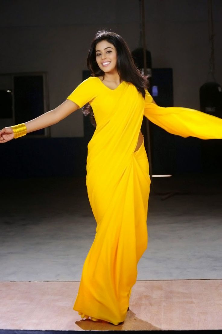yellow saree shamna kasim - Google Search