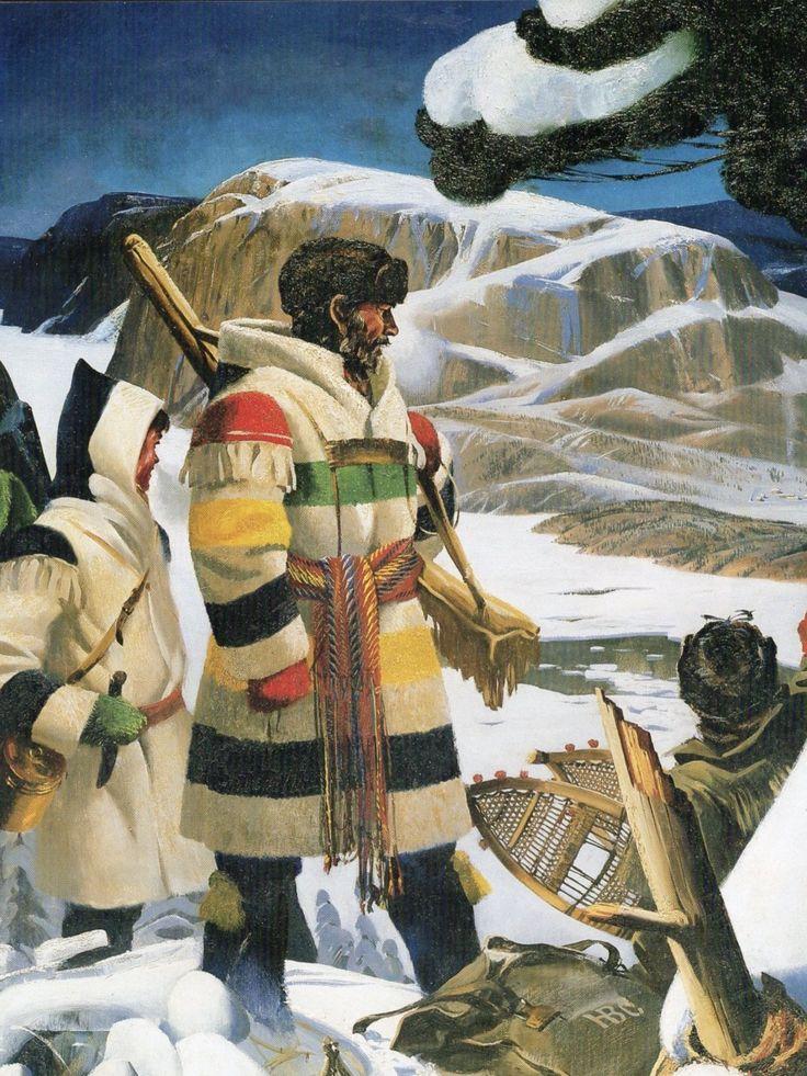Voyageur. Hudson's Bay capote, & Métis fléchée - or sash.