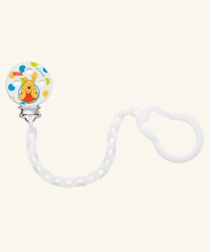 NUK Winnie the Pooh Soother Pacifier Chain Leash 0-36 Months White (7742-1)