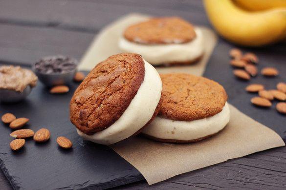Grain-free Chocolate Chip Cookie Banana Ice Cream Sandwiches - Gluten-free Dairy-free