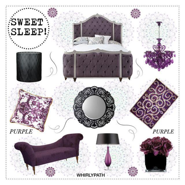 SWEET SLEEP PURPLE! by whirlypath on Polyvore featuring interior, interiors, interior design, home, home decor, interior decorating, Haute House, Skyline, Cyan Design and Heathfield & Co.