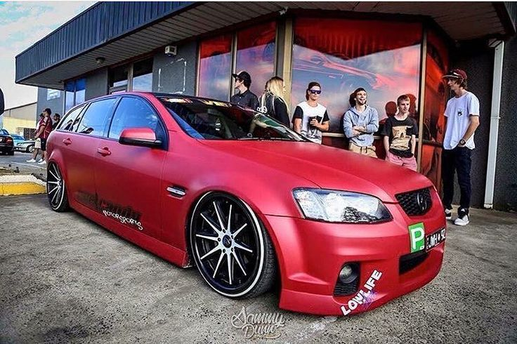 #luxmafia #wags #holden #commodore #wagon #bags #airride #tss #lowlife #rims #red #wrap #lights #tint #followme #manual #automatic