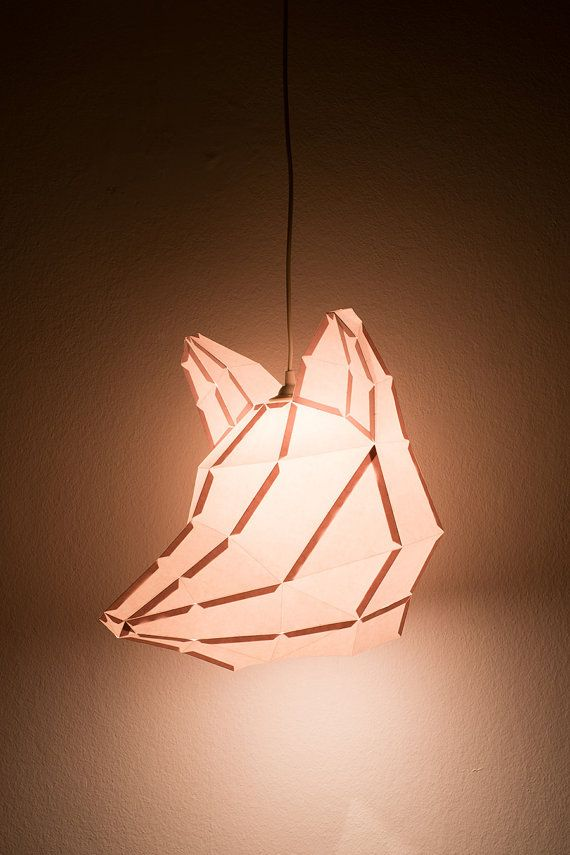 Fox Large - do it yourself paper lampshade. €35.00, via Etsy.