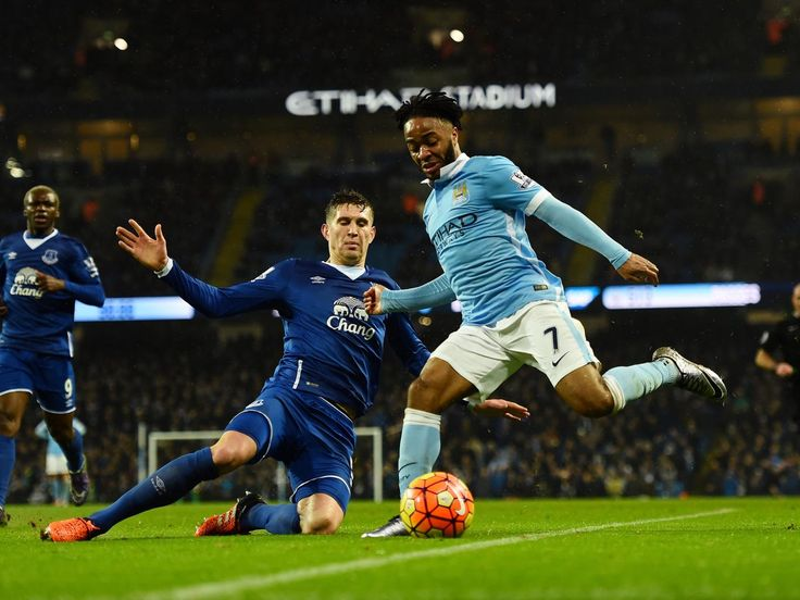 January 28 2016 - Manchester City progress to League Cup final at expense of Everton despite Sterling cross controversy