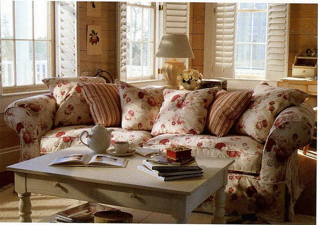 Lovely Norfolk Rose Fabric Sofa Shabby Chic Norfolk Vintage Rose Fabric By Waverly Pinterest