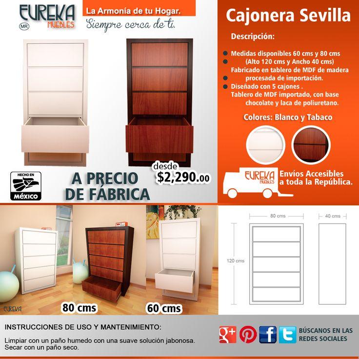 Cajonera Sevilla http://www.eurekamuebles.com.mx/cajonera-sevilla-60-cms.html