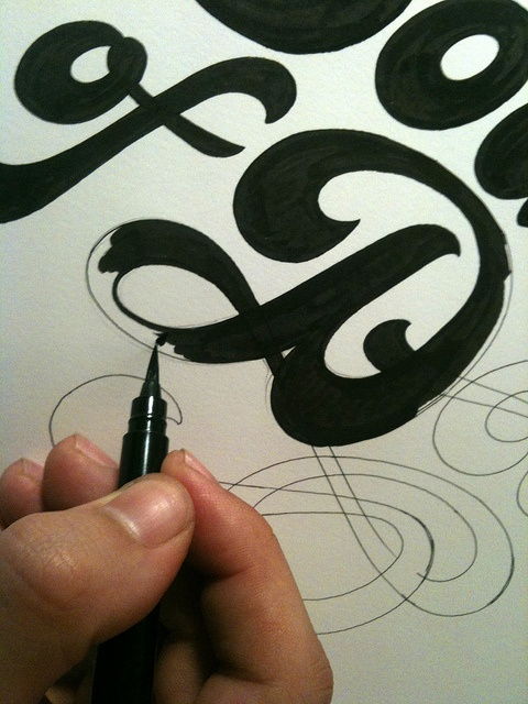Carhartt SS 2011 - Sound of Detroit - work in progress by Luca Barcellona - Calligraphy & Lettering Arts, via Flickr