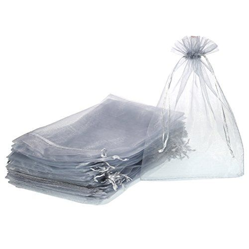 Shappy Pack of 50 Organza Gift Bags 7.9 by 11.8 Inch Drawstring Jewelry Candy Pouches for Wedding Birthday Party Favor Christmas Gift Wrapping Large organza gift bags: the total size of each bag approx. 20 x 30 cm/ 7.9 x 11.8 inch and available size approx. 20 x 26 cm/ 7.9 x 10.2 inch, large size enough to meet your needs Lightweight and exquisite: made of sheer organza, lightweight and simple, looks beautiful and elegant; Great choice for your party wedding decoration Drawst
