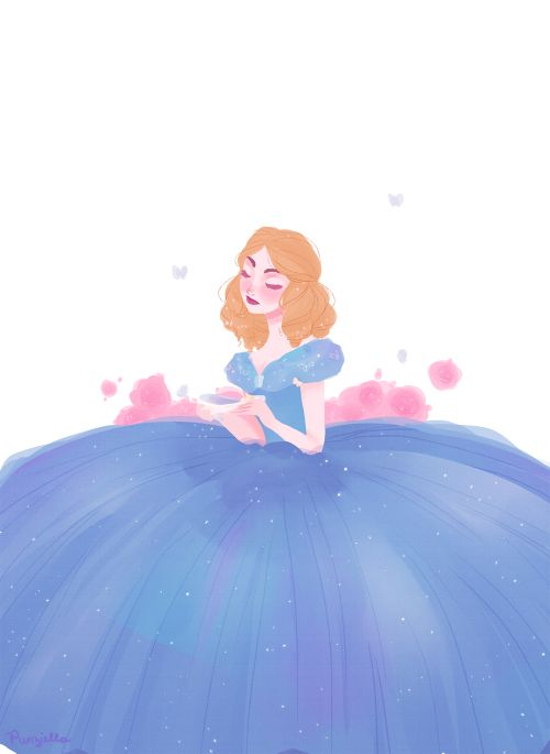 punziella:I haven't seen the movie yet but idc I wanna draw her dress. also, I forgot to shade her right hand lol #yolo