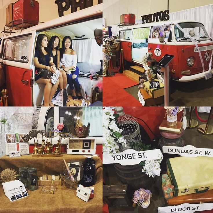 1st day. Love bus! we met some awesome people. #torontophotobus #newlyweds #gettingmarried @canadasbridalshow #torontovwphotobus #vwphotobus