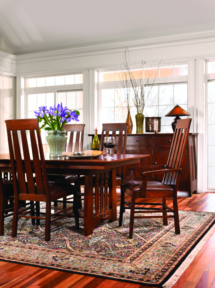 43 Best Stickley Mission Furniture Images On Pinterest  Mission Cool Arts And Crafts Dining Room Set Review
