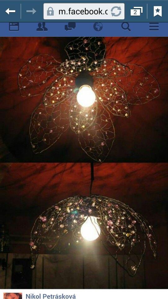 DIY Dratovane květy (lustr)
