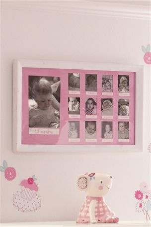 Pink First Year Frame