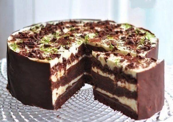 Čoko- limetková  torta