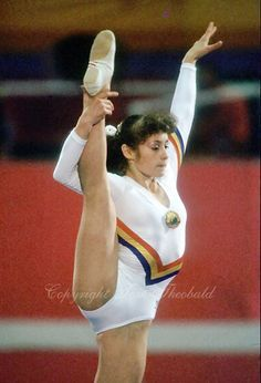 My gymnastics idol! August 6, 1984; Los Angeles, California, USA;  Artistic gymnastics stars Ecaterina Szabo of Romania performs on balance beam on way to gold medal win in event finals at 1984 Los Angeles Olympics. Copyright 1984 Tom Theobald
