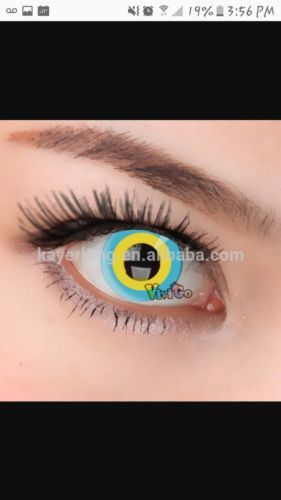 other eye makeup 172024 halloween eye contacts yellow blue 1 pair