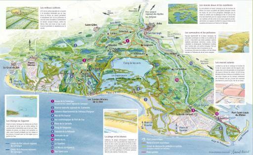 Une carte touristique à télécharger - Parc naturel régional de Camargue - #parcornithologique