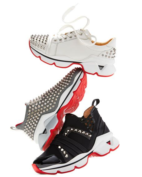 c686808f0130 Christian Louboutin 123 Run Flat Red Sole Sneakers