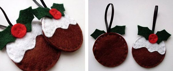 D corations de no l en feutrine ou tissu craft ideas - Deco sapin de noel en tissu ...
