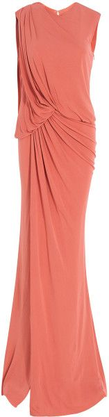 Sleeveless Long Jersey Gown - Lyst