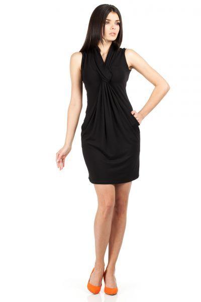 Black mini dress with a pencil fashion