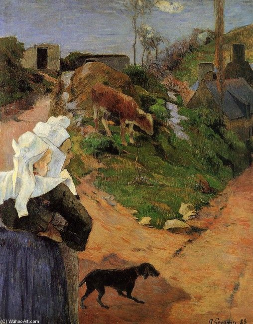 """Paul Gauguin, """"Bretonnes à Pont-Aven"""""""