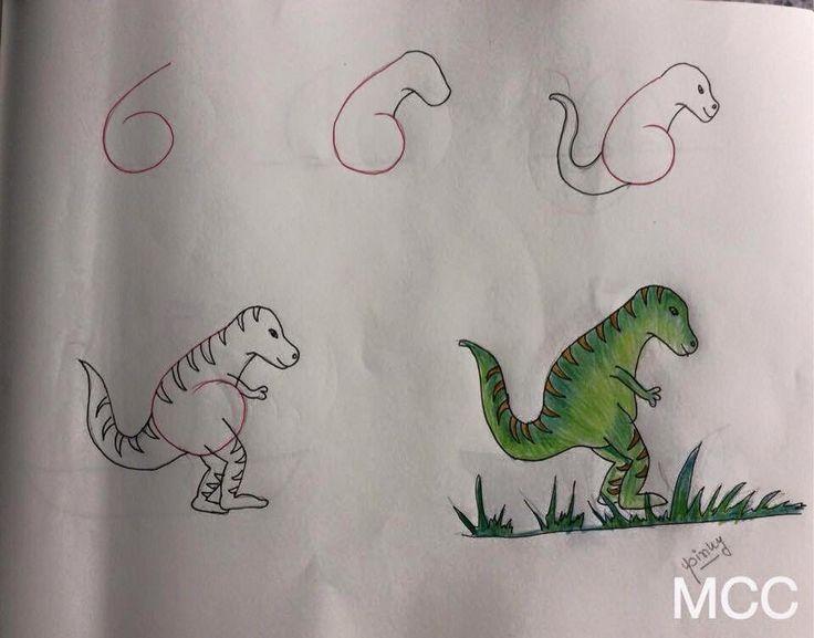 Easy dinosaur 6