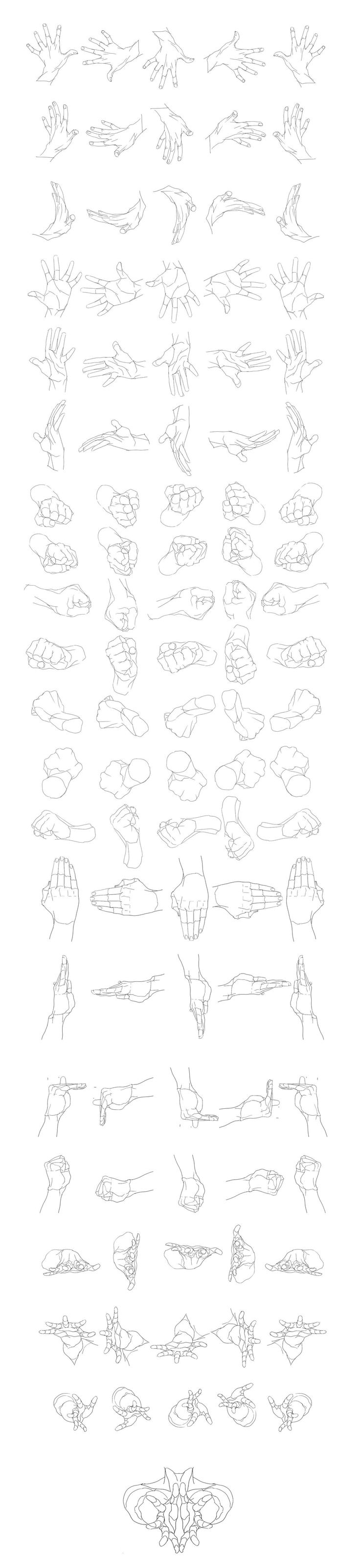 """""""Hands Movement/Rotation"""" by 0033*   • Blog/Website   (http://www.pixiv.net/member.php?id=59317)    ★    CHARACTER DESIGN REFERENCES (https://www.facebook.com/CharacterDesignReferences & https://www.pinterest.com/characterdesigh) • Love Character Design? Join the #CDChallenge (link→ https://www.facebook.com/groups/CharacterDesignChallenge) Share your unique vision of a theme, promote your art in a community of over 40.000 artists!    ★"""