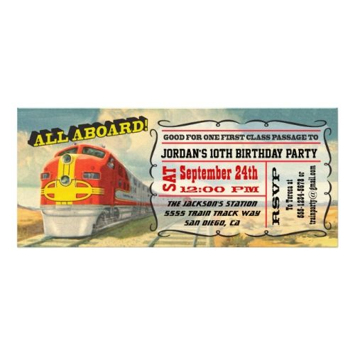 120 best Train Birthday Party Invitations images on Pinterest - best of invitation card for new zoo