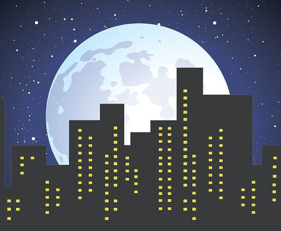 Backdrop Full Moon Sky 6 Ft X 6 Ft Vinyl Backdrop by PartySquare
