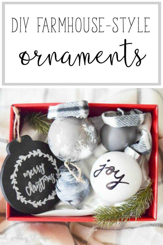 Farmhouse Christmas Ornaments DIY