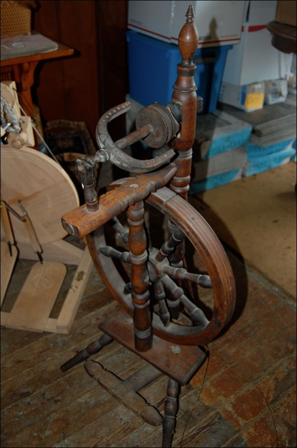 My friend Mary sold me this old antique spinning wheel for a song. I'm not sure if that is good or bad, because old spinning wheels can be SUCH CRANKY things! I think it's good, howev…