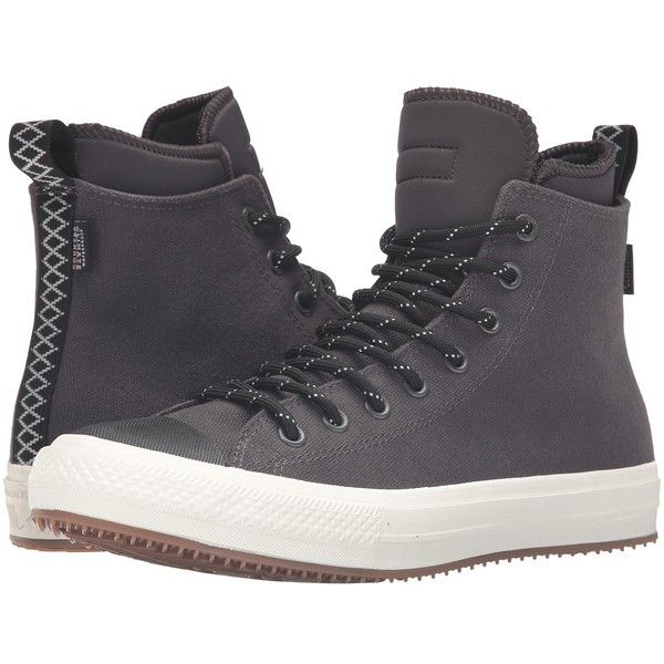 Converse Chuck Taylor All Star II Shield Canvas Sneaker Boot Hi... ($110) ❤ liked on Polyvore featuring men's fashion, men's shoes, men's sneakers, mens black sneakers, mens sneakers, mens canvas sneakers, converse mens shoes and mens waterproof shoes