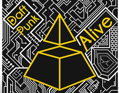 """Check out new work on my @Behance portfolio: """"Daft Punk: Alive - Cover"""" http://on.be.net/1CdmMLl"""