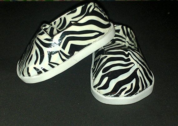18inch Doll  Zebra  Print Shoes by AwkinaSewN93 on Etsy, $4.50