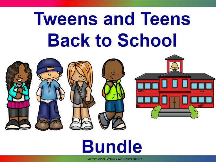 Tweens and Teens Back To School Resource Bundle