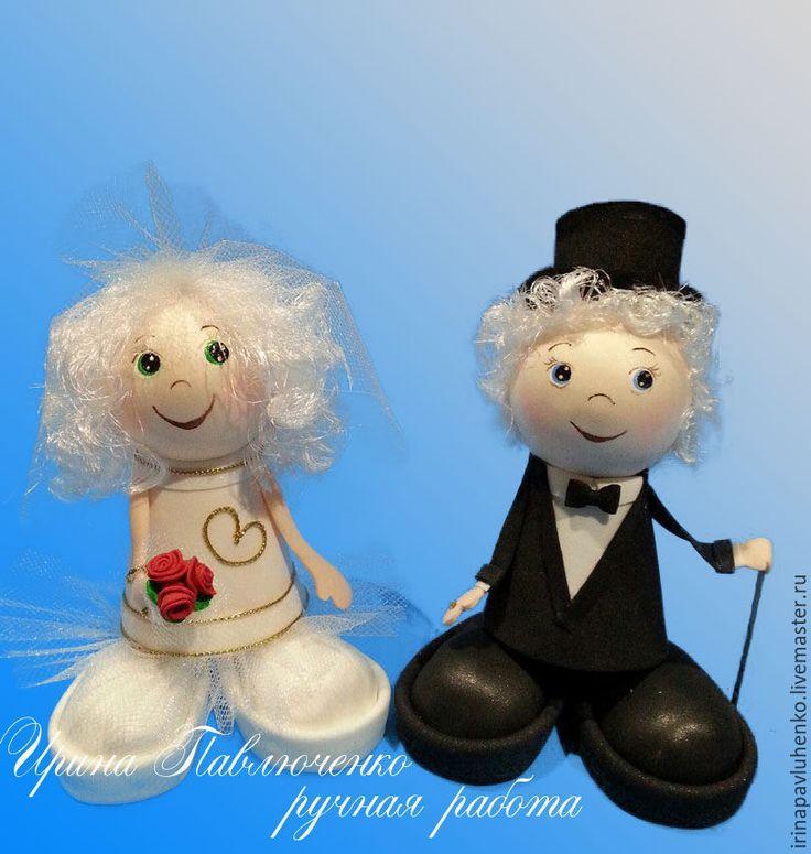 Купить Свадебные куклы Жених и Невеста - подарок на свадьбу, годовщина свадьбы, свадьба, свадебный подарок