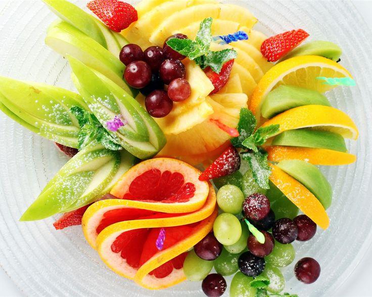 Фруктовый салат, клубника, ананас, киви, лимон, яблоко, виноград Обои - 1280x1024
