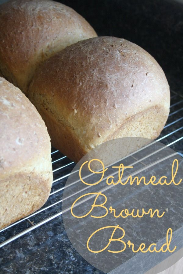 Oatmeal Brown Bread: This is an easy recipe -- classic and comforting as only oatmeal brown bread can be.