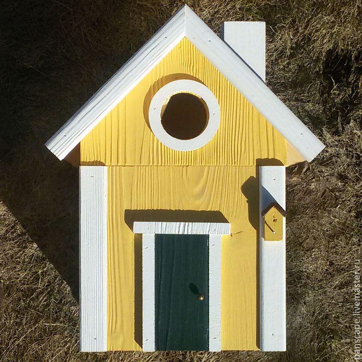 Купить Кормушка для птиц - скворечник желтая - скворечник, кормушка, скворечник-кормушка, ДЕКОР ДЛЯ САДА