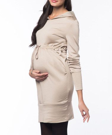Look what I found on #zulily! Camel Hooded Maternity Dress by 37.5 Beloved #zulilyfinds