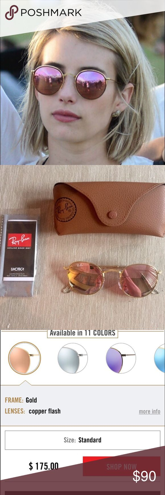 Round Ray Bans w Pink Lens Bought these from another Posher, brand new! Priced to sell Ray-Ban Accessories Sunglasses