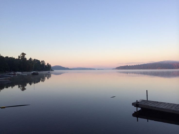 Many lodges and cottages in Northern #Ontario offer a tranquil lakeside view. #sunrise #cottagelife #DiscoverON