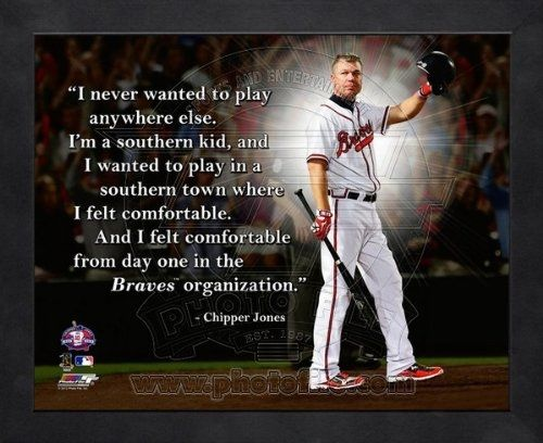 Chipper Jones Atlanta Braves Pro Quotes Framed 8x10 Photo by artworka
