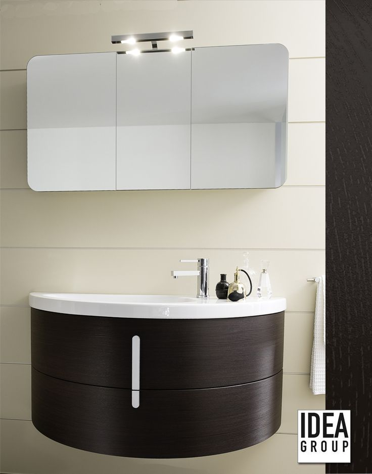 Moon by Ideagroup. Finishes: polymeric wenge. #Design #Bathroom #MadeinItaly