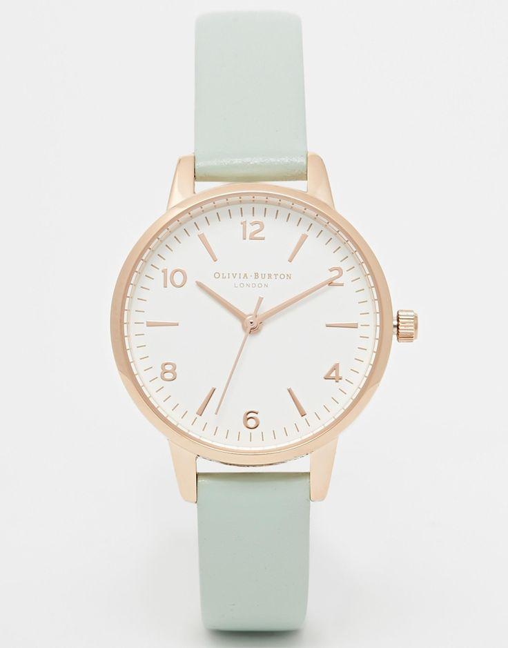 Olivia Burton Exclusive To ASOS Midi White Face Mint Watch