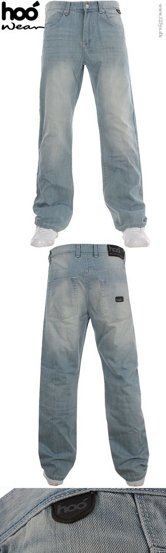 Hoo Wear jeans i lyse blå farve