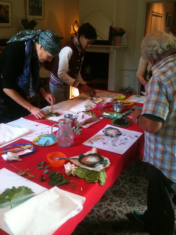 Thema-workshop I.S. 'Herfst'   tijdens het Oogstfeest op de Buurtboerderij